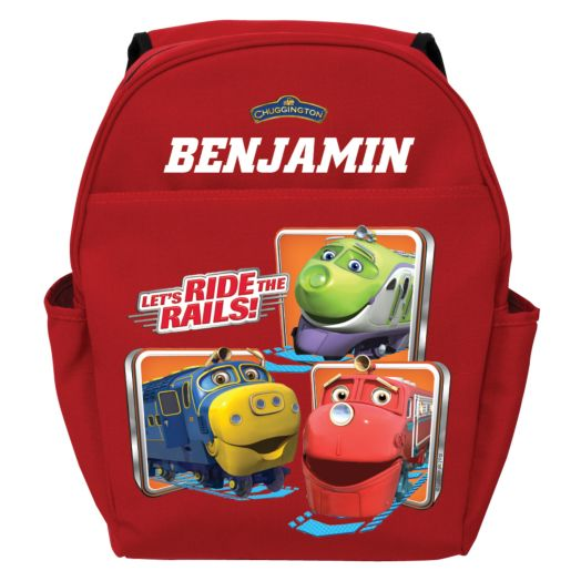 Chuggington Ride the Rails Red Toddler Backpack