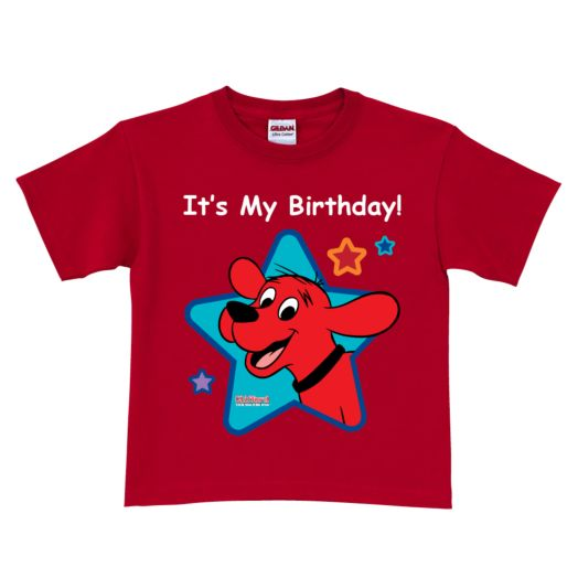 Clifford It's My Birthday Red T-Shirt