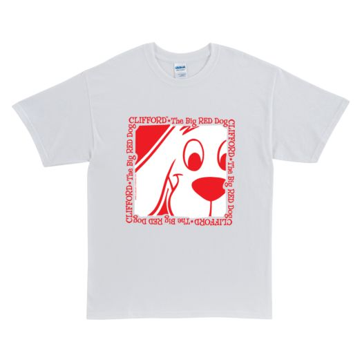Clifford The Big Red Dog White Adult T-Shirt