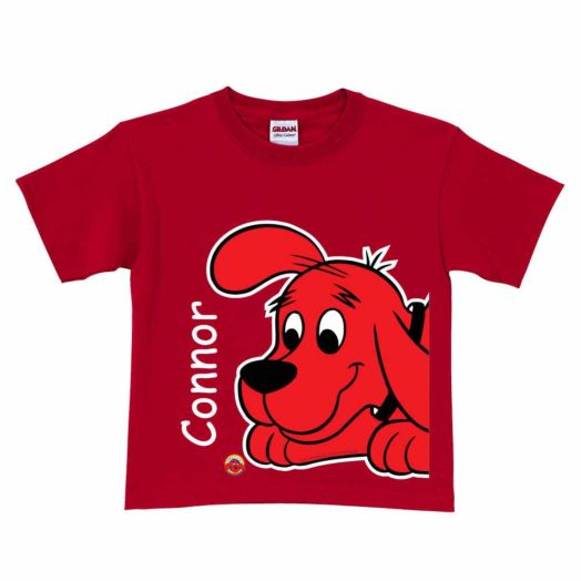 Clifford the Big Red Dog Close-Up Red T-Shirt