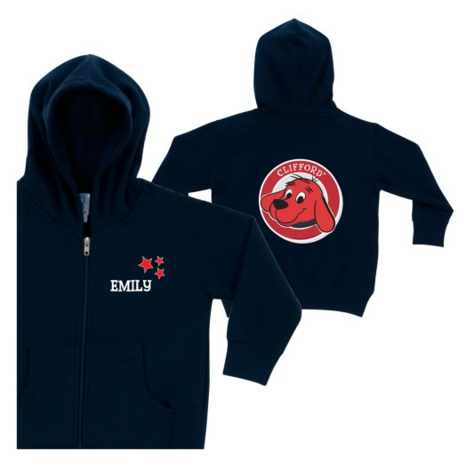 Clifford is a Star Navy Zip-up Hoodie