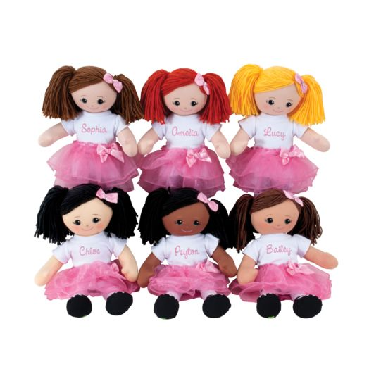 Brunette Doll With Tutu and Hair Clip