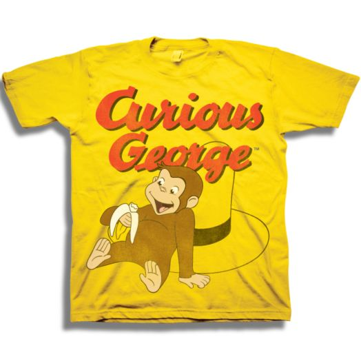 Curious George Vintage Banana Yellow Toddler T-shirt