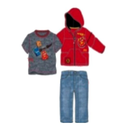 Disney Cars Infant Boys' 3-Piece Puff Jacket Set