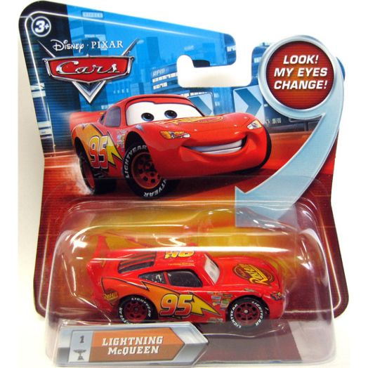 Disney Cars Lenticular Checklane Lightning McQueen Vehicle