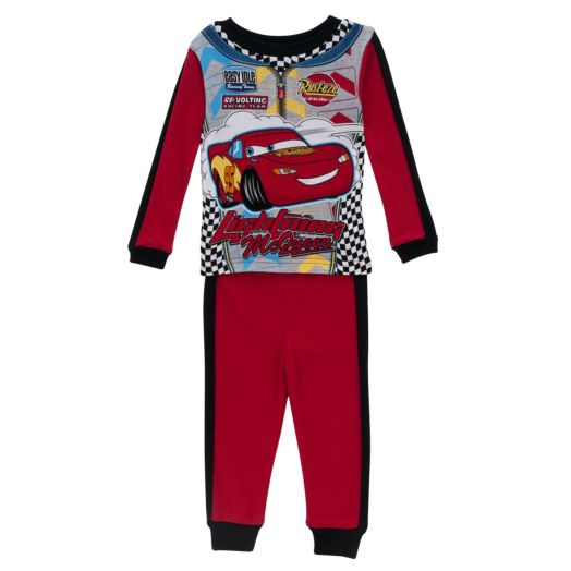 Disney Cars Toddler Boy's Lightning McQueen Uniform Pajamas 2 Pack
