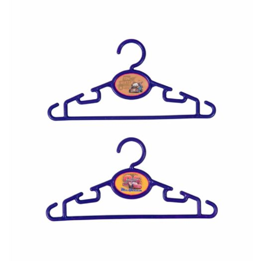 "Disney Cars 4-pack Plastic 12"" Clothes Hangers"