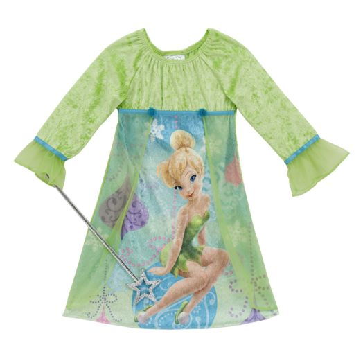 Disney Fairies Girl's Fantasy Nightgown with Wand