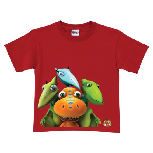 Dinosaur Train Buddy, Tiny, Shiny & Don Red T-Shirt