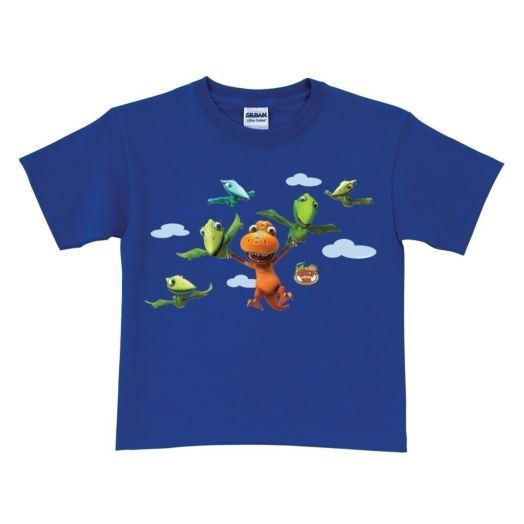 Dinosaur Train Buddy Can Fly Royal Blue T-Shirt