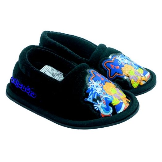 The Doodlebops - Apparel - Boys Black House Slippers