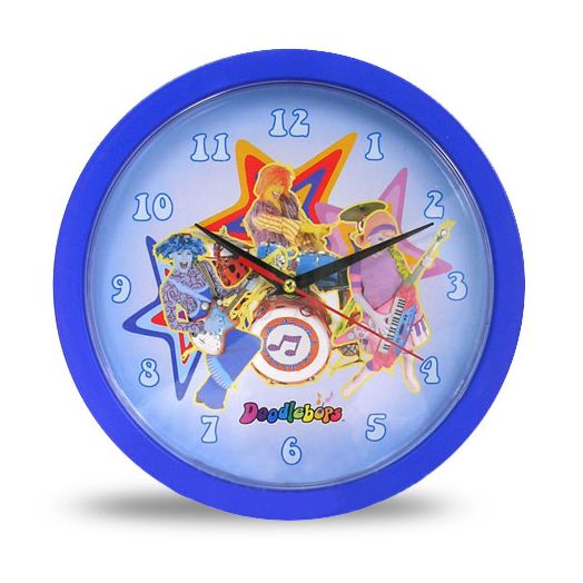 "Doodlebops Blue 10"" Wall Clock"