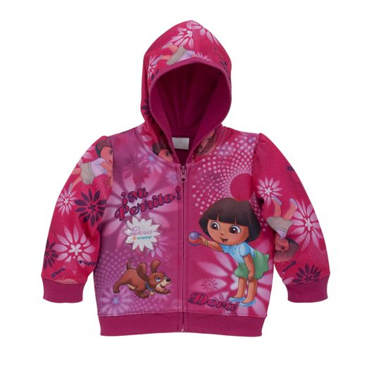 Dora the Explorer Toddler Girl's Sublimated Hoodie