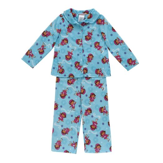 Dora the Explorer Toddler Girl's Winter Wonders Pajamas