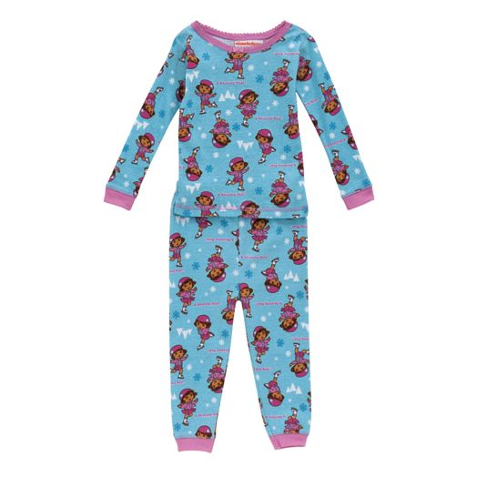 Dora the Explorer Toddler Girl's Skating Star Pajamas