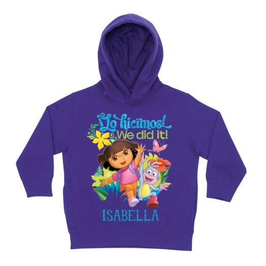 Dora the Explorer We Did It Purple Toddler Hoodie