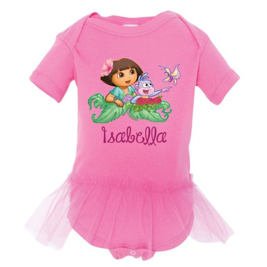 Dora the Explorer Butterfly Raspberry Tutu Infant Bodysuit
