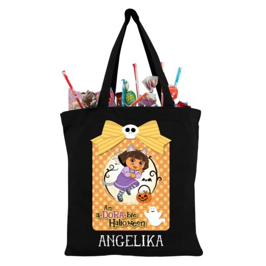 Dora the Explorer Adorable Halloween Black Trick-Or-Treat Bag