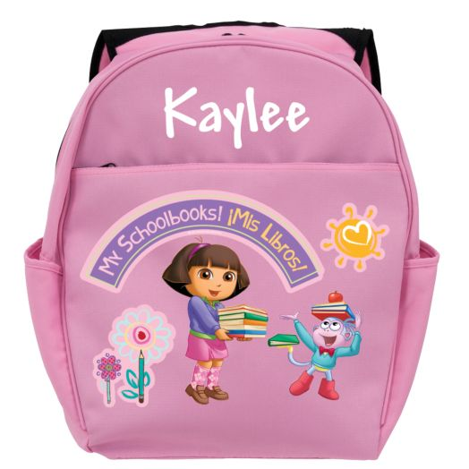 Dora the Explorer My Schoolbooks Pink Toddler Backpack