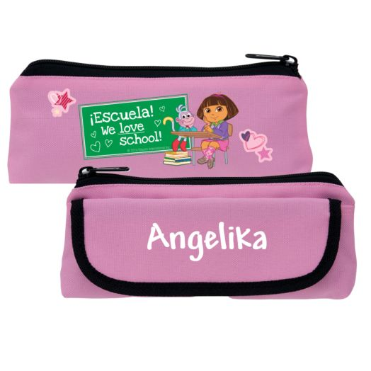 Dora the Explorer We Love School Pink Pencil Case