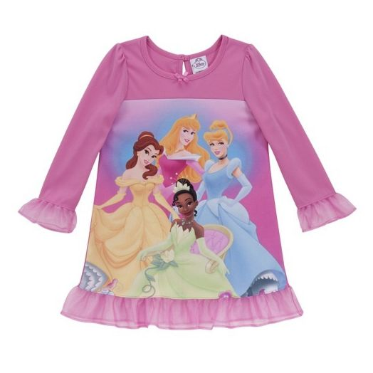 Disney Princess Girls' Nightgown with Headband and Slippers
