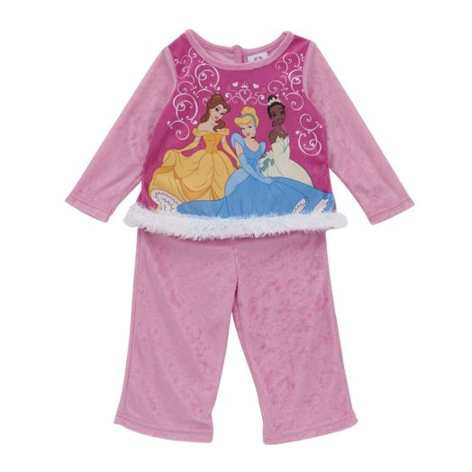 Disney Princess Toddler Girls' Scroll Pajamas
