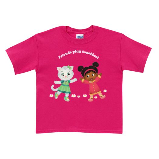 Daniel Tiger's Neighborhood Flower & Friends Hot Pink T-Shirt
