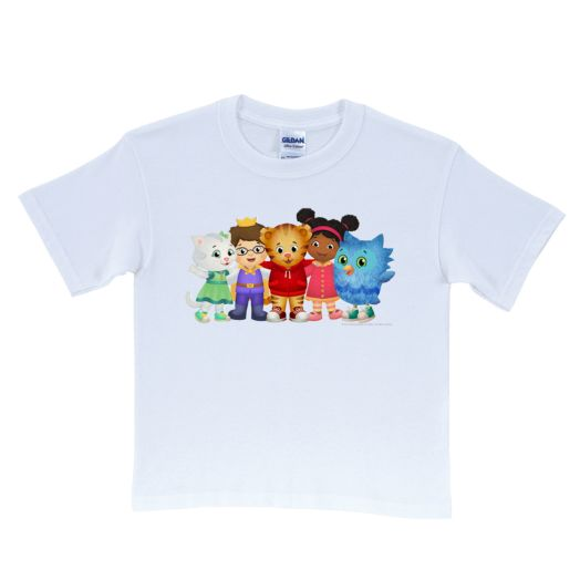Daniel Tiger's Neighborhood Group White T-Shirt