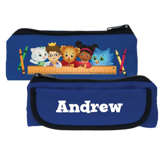 Daniel Tiger's Neighborhood Friends Rule Blue Pencil Case
