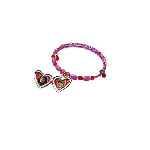 High School Musical Pink Bead Bracelet with Locket