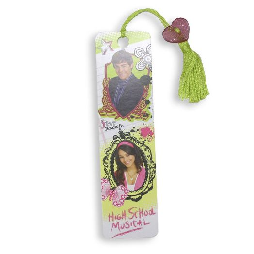 High School Musical 2 Green Tassel Beaded Bookmark