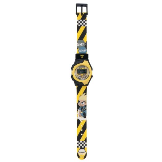 Johnny Test 5 Function Master Watch - Yellow Stripe Band