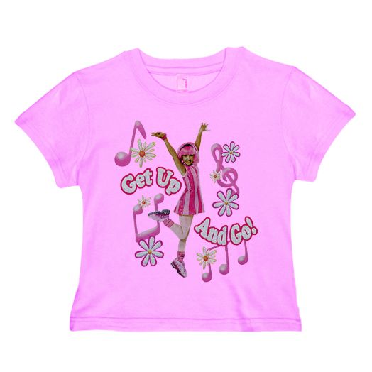 LazyTown Get Up Go Pink T-Shirt
