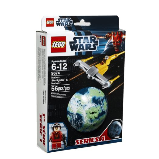LEGO Star Wars Naboo Starfighter and Naboo - 9674