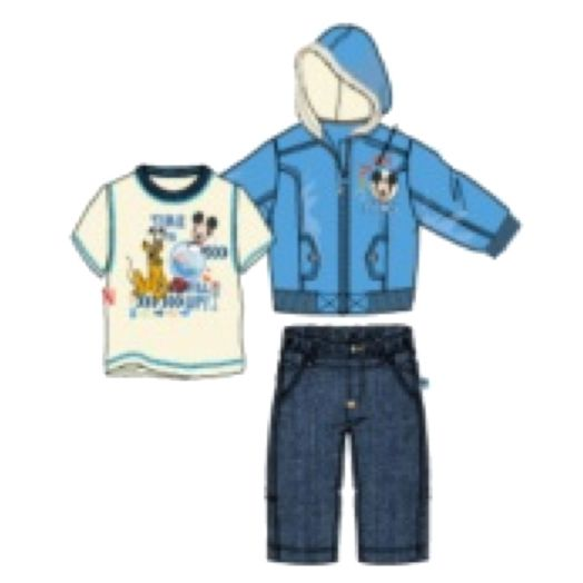 Mickey Mouse Infant Boy's 3-Piece Puff Jacket Set