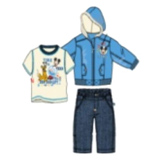 Mickey Mouse Toddler Boy's-3-Piece Puff Jacket Set