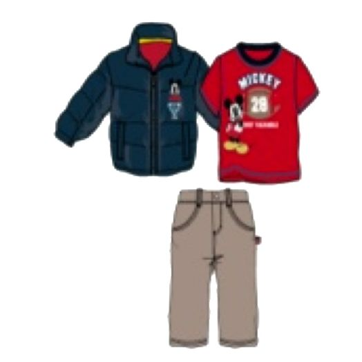 Mickey Mouse Toddler Boy's 3-Piece Puff Jacket Set