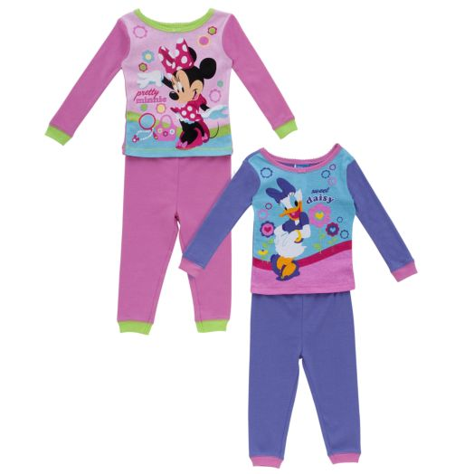 Disney Pretty Minnie & Sweet Daisy Toddler Girl's Pajamas - 2-Pack