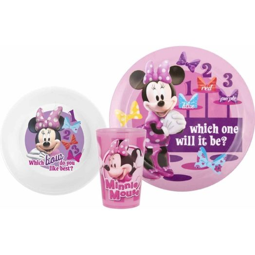 Minnie Mouse 3-Piece Dinnerware Set