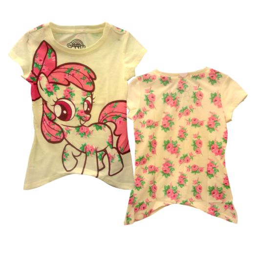 My Little Pony Yellow Floral Toddler Puff Sleeve T-Shirt