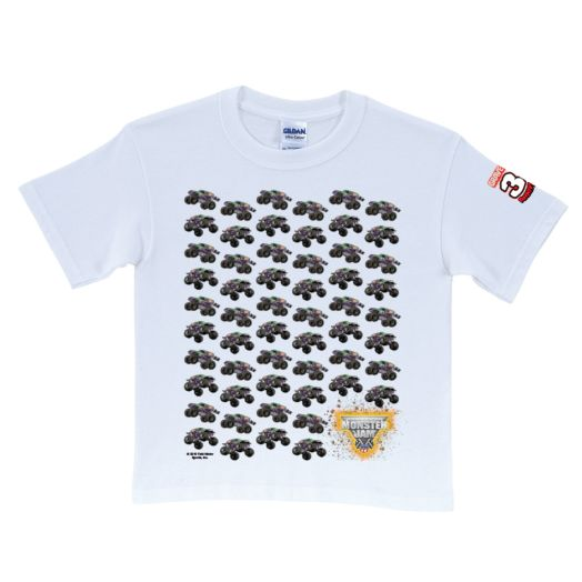 Monster Jam Grave Digger's 30th Anniversary Repeat White T-Shirt