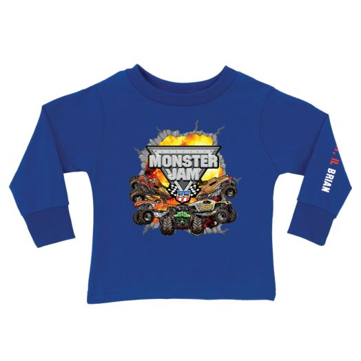 Monster Jam Challenge Royal Blue Long Sleeve Tee