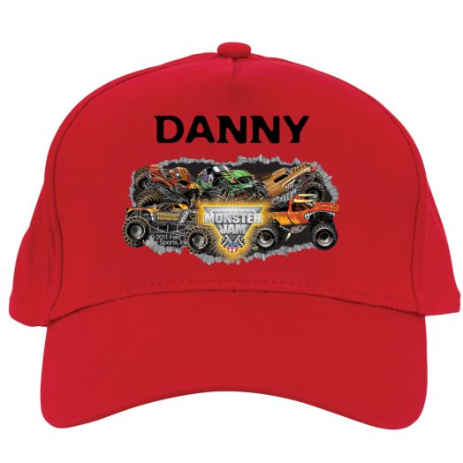 Monster Jam Madness Red Baseball Hat