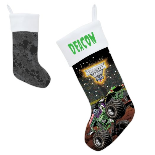 Monster Jam Grave Digger Christmas Stocking