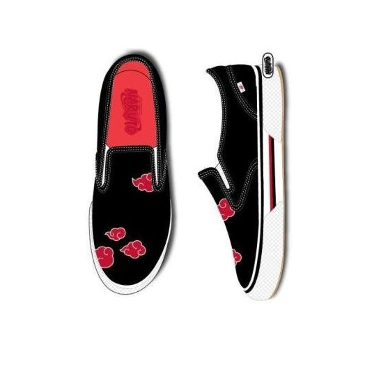 Naruto Black Shoes with Red Clouds