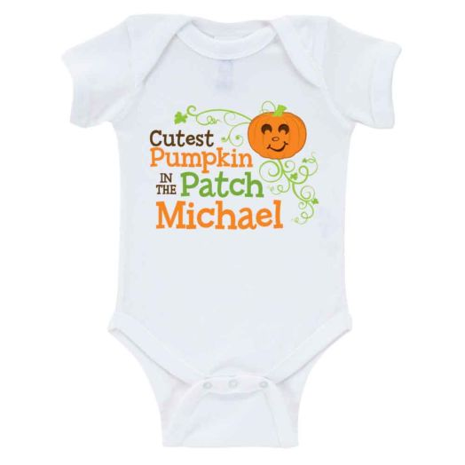 Cutest Pumpkin Personalized White Creeper