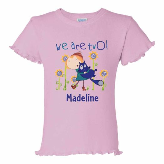 Peg + Cat We Are Two Pink Ruffle Tee