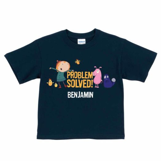 Peg + Cat Problem Solved Group Navy T-Shirt