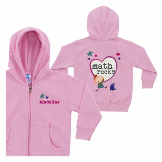 Peg + Cat Math Rocks with Heart Pink Zip-Up Hoodie