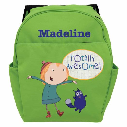 Peg + Cat Totally Awesome Green Toddler Backpack